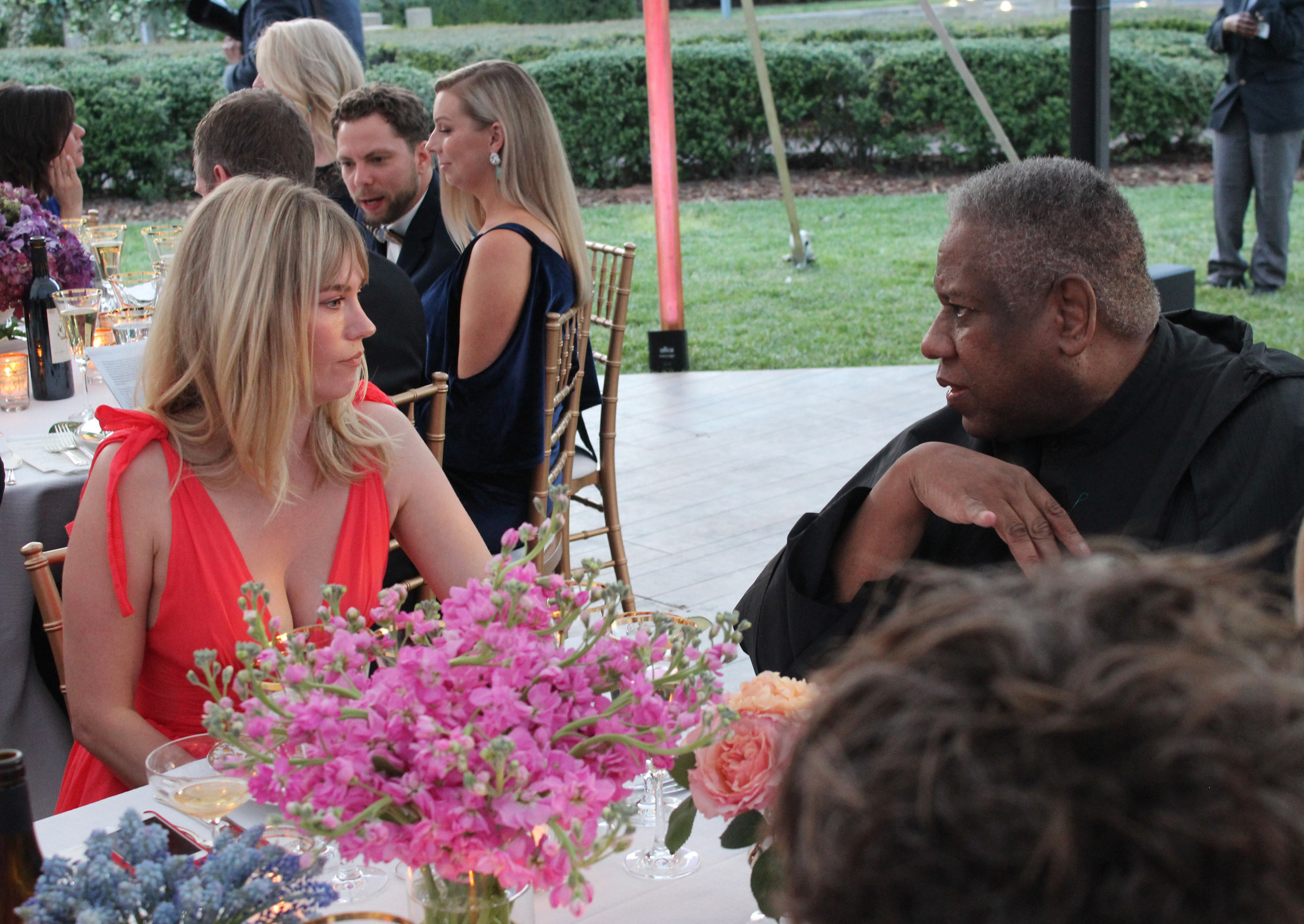 Actors January Jones talks with former editor at large of  Vogue  Andre Leon Talley at last year's Coveted Couture Gala. Andre Leon Talley is returning to Charlotte as the Honorary Chair of this year's gala on April 27 at the Mint Museum Randolph.