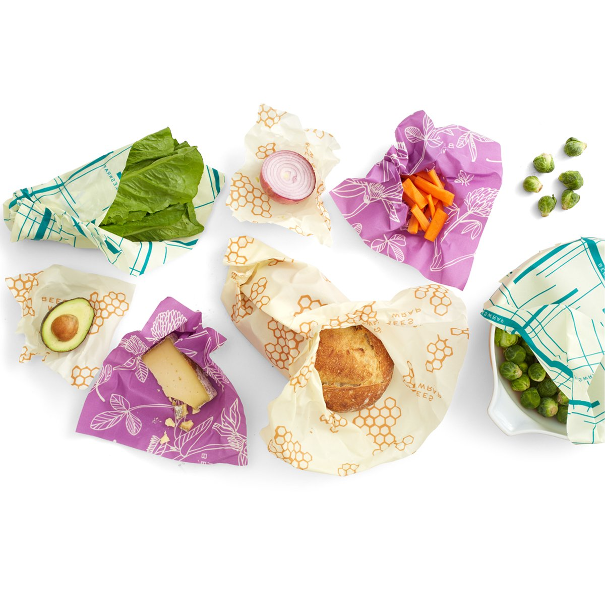 Bee's Wrap reusable food wraps are handmade in Vermont of cotton with beeswax, jojoba oil and tree resin. $18-$21.   beeswrap.com  .