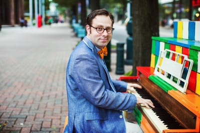Internationally-known pianist Ethan Uslan will provide accompaniment for a silent movie comedy on June 11 at the Myers Park public library.