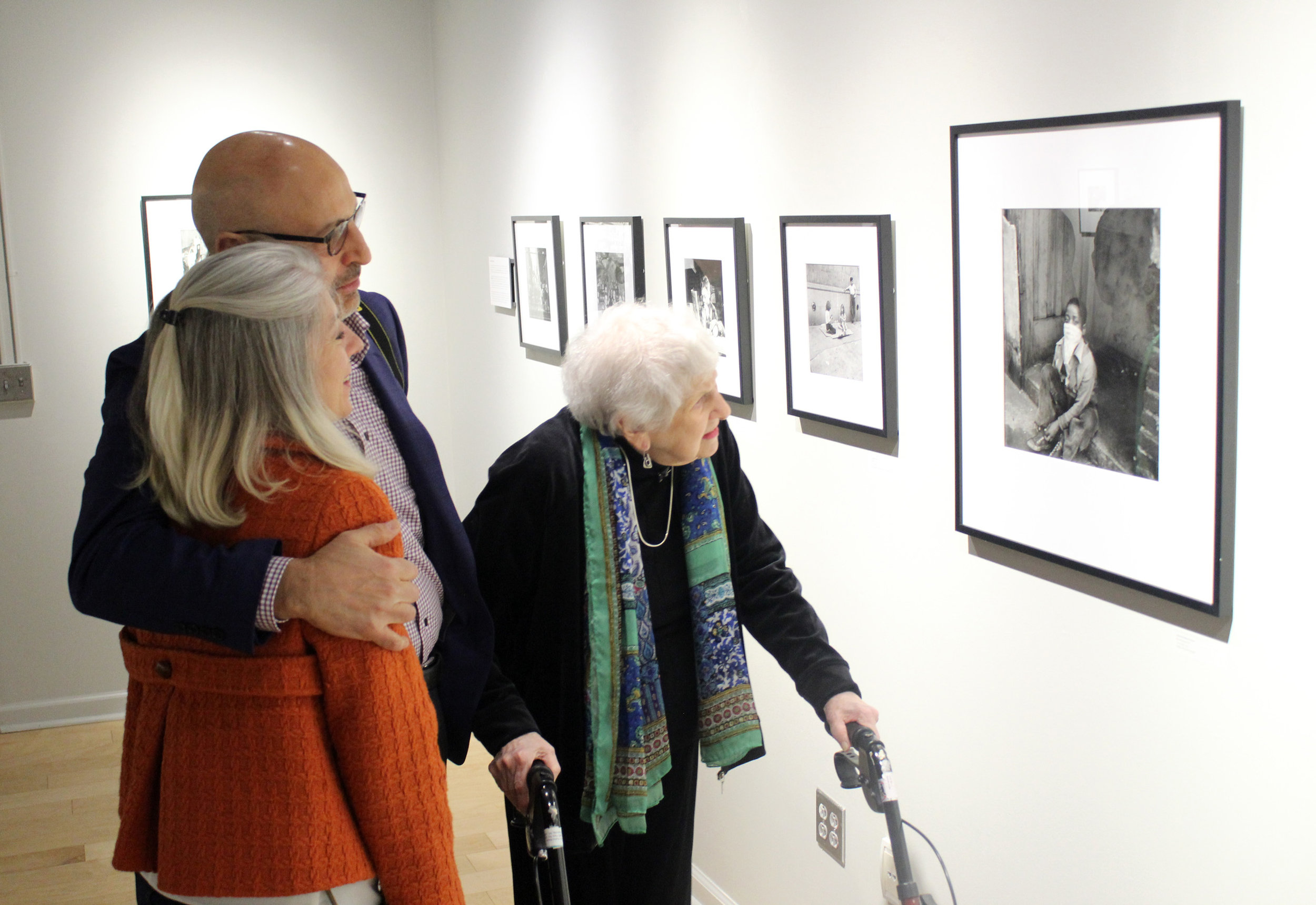 Famous photographer Sonia Handelman Meyer, 99, was the guest of honor at an exhibition of her and George Gilbert's works at the Light Factory.