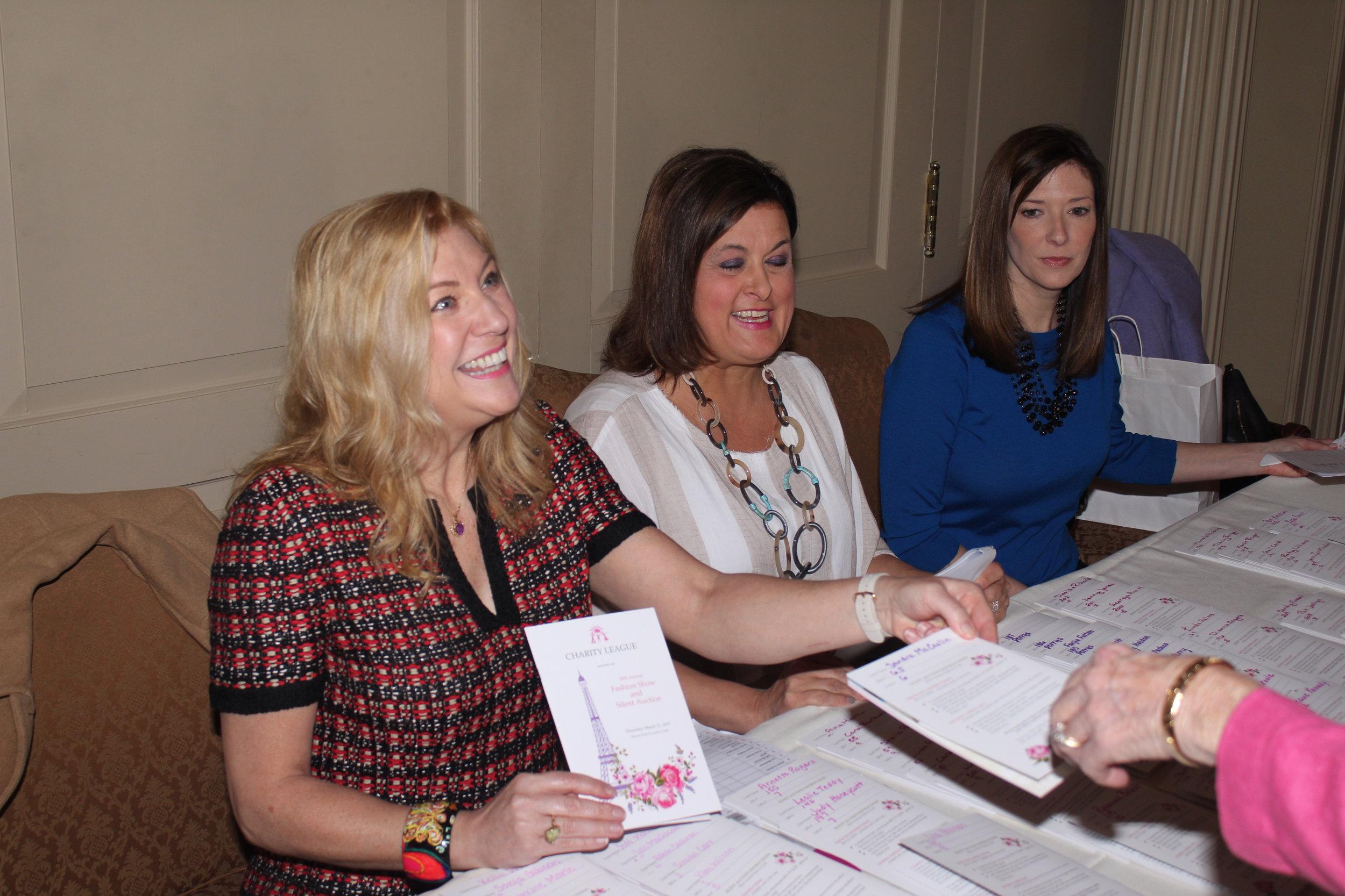 Paige Robertson, Caroline Horne and Jennifer Vick