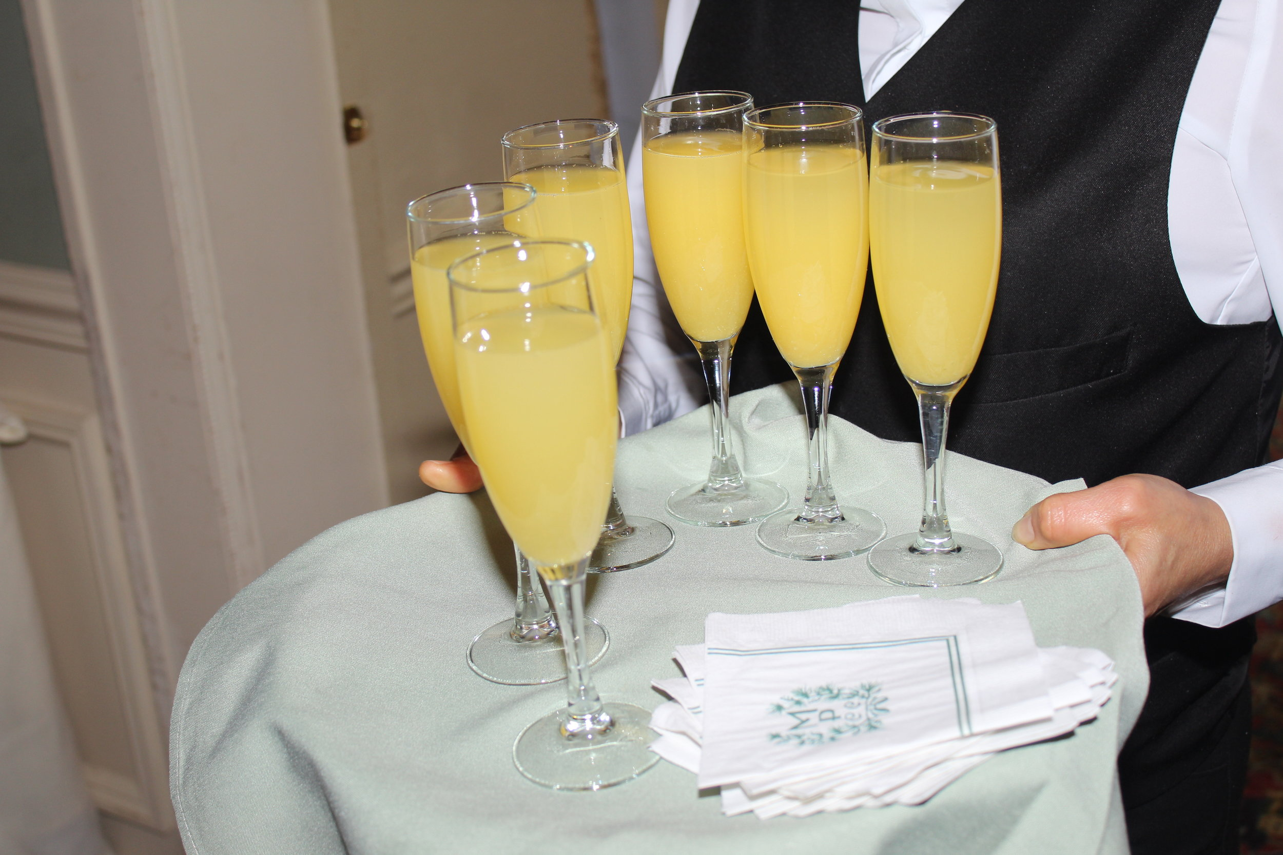 Guests were offered Mimosas