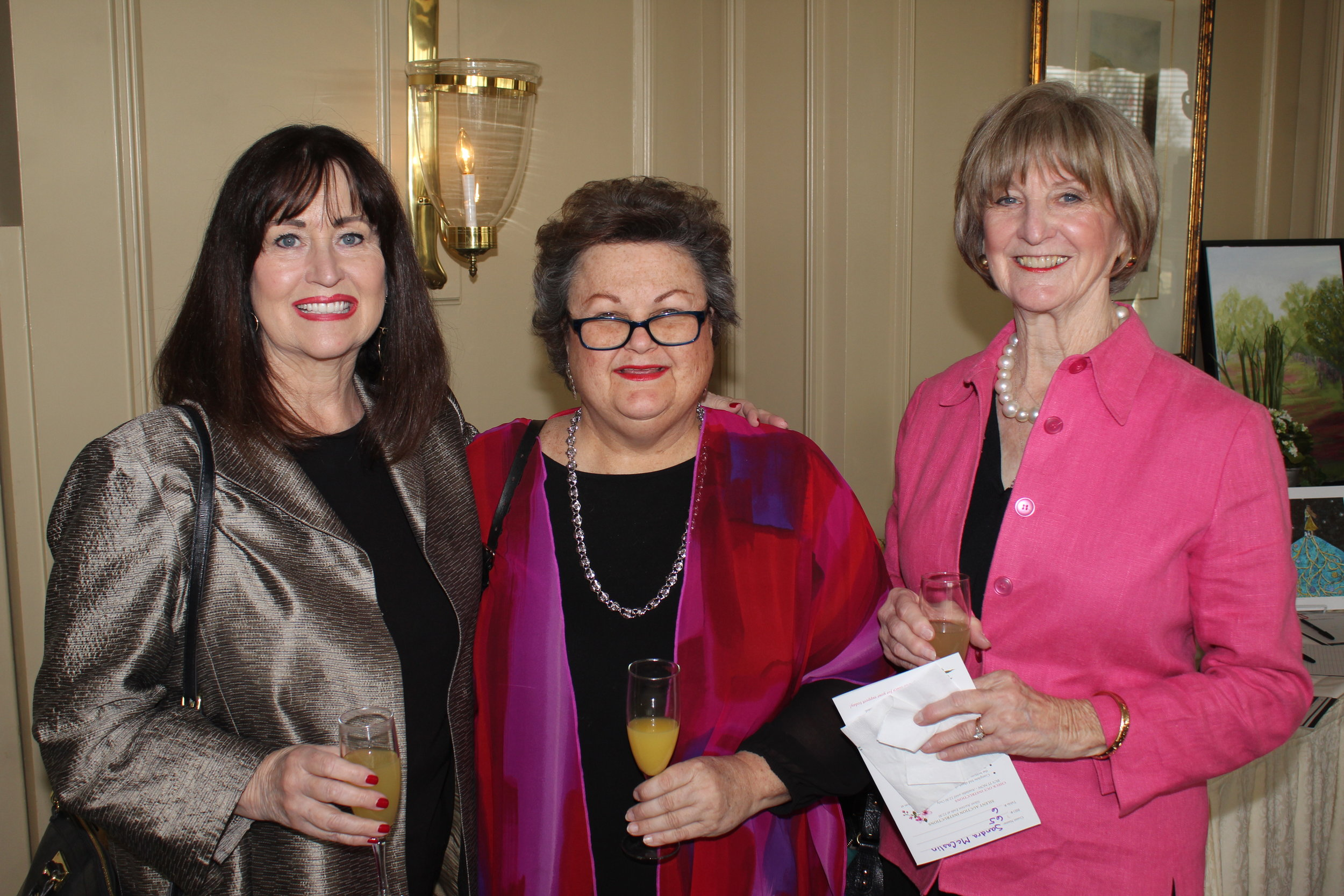 Dianne Roth, Pat Higgins and Sandra McCaslin
