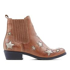 Star Leather Pull-On Boot in Saddle, $119. Also available in Black and Navy.