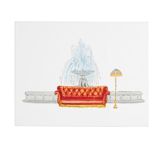 Fountain Scene Canvas Art Print, $149
