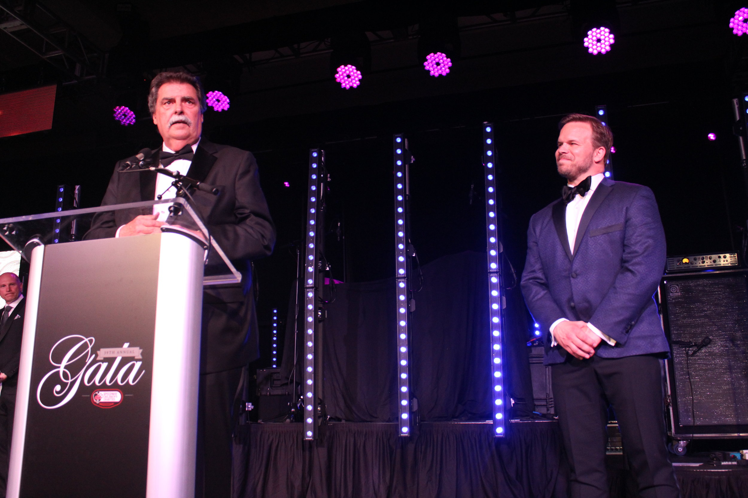 The evening was a tribute to NASCAR Vice Chairman Mike Helton, who was introduced by Marcus Smith.