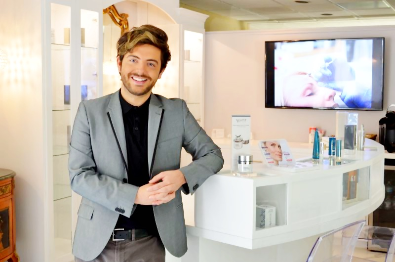 You can find superstar aesthetic consultant Jacob Starr at Charlotte Plastic Surgery's sleek new Brilliant Bar. To book a free consultation, call 704-372-6846.
