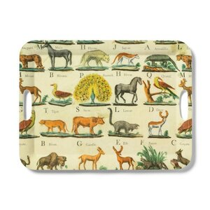 John Derian Animal Print Melamine Serving Tray, $20.