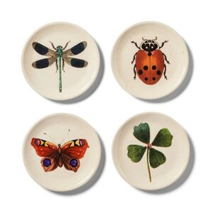 John Derian Insect Print Melamine Appetizer Plate, Set of Four, $8.
