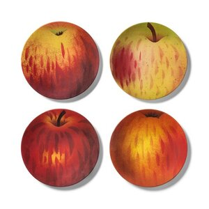 John Derian Apple Print Melamine Salad Plate, Set of Four, $10.