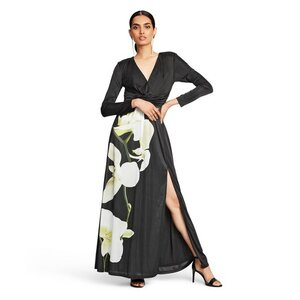 Altuzarra Floral Print Long Sleeve V-Neck Maxi Dress, $35.