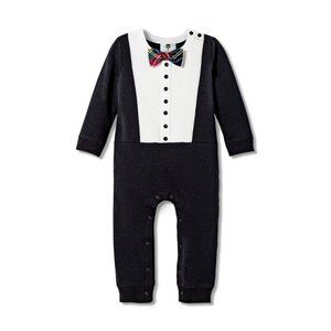 Harajuku Mini Baby Boys' Long Sleeve Crewneck Tuxedo Bodysuit, $16.