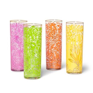 Lilly Pulitzer Set of Four Cocktail Glasses, $30.