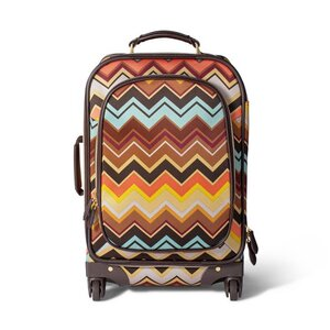"Missoni 22.5"" Four-Wheel Rolling Zig Zag Print Carry-On Suitcase, $100. (A Four-Wheel Rolling Suitcase in Zig Zag Print is $160.)"