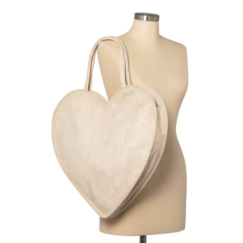 Erin Fetherston Heart Shaped Tote Handbag in Tan (also available in Red), $30.