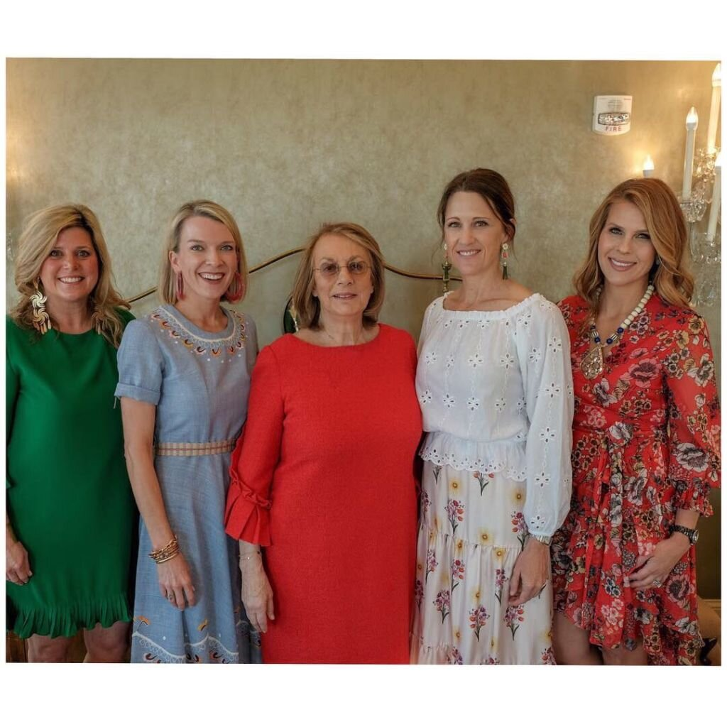 Nina Campbell, center, is one of the world's most influential interior designers. She was the speaker  at the Mint Museum Auxiliary's Room to Bloom Decorative Arts Symposium.