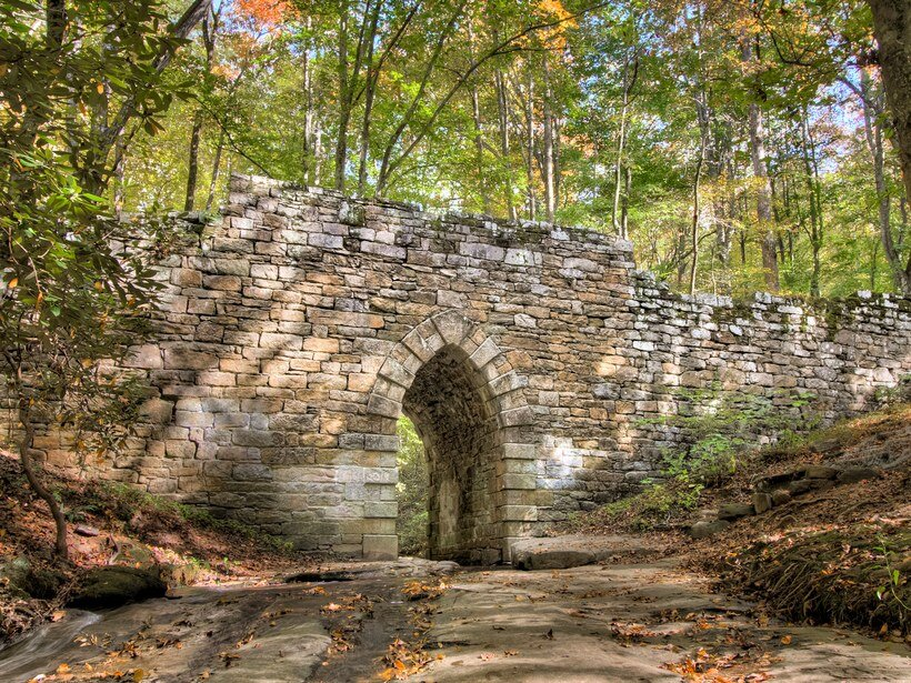 Poinsett Bridge in Greenville, S.C. was built in 1820. It's not only the state's oldest bridge, it's also one its most haunted spots according to Conde Nast Traveler.
