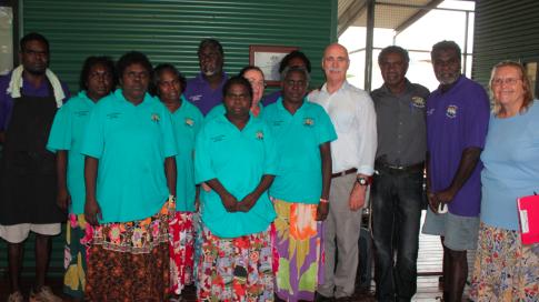 Galiwin'ku Aged & Disability Services Team with Minister Snowdon, Councillor Thurlow & Councillor Gondarra