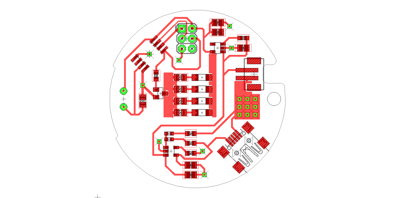 Layout of the printed circuit board.