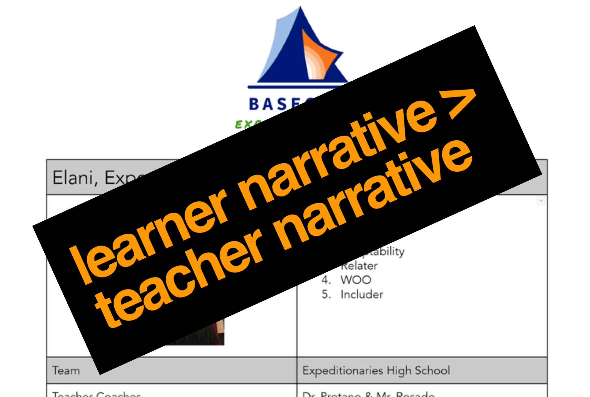 Learner Narrative > Teacher Narrative