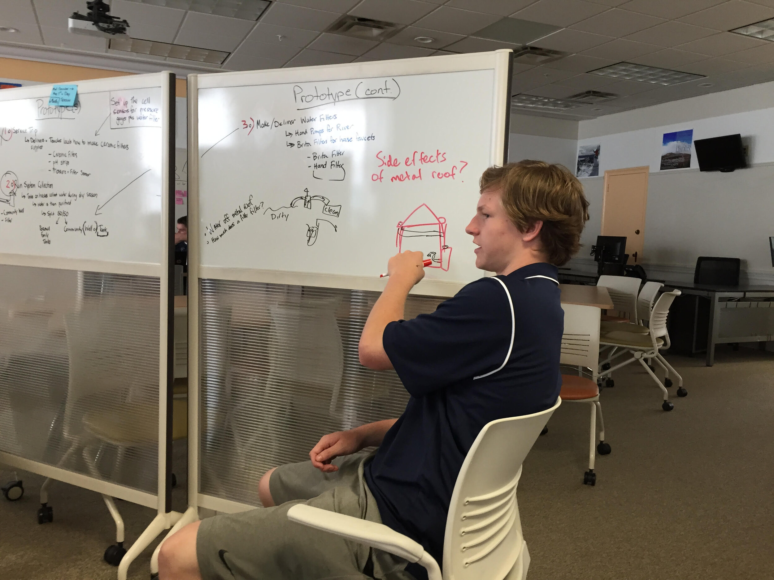 Flexible furniture and writeable surfaces were key to enabling a new learning experience like Social Entrepreneurship at Malvern Prep.