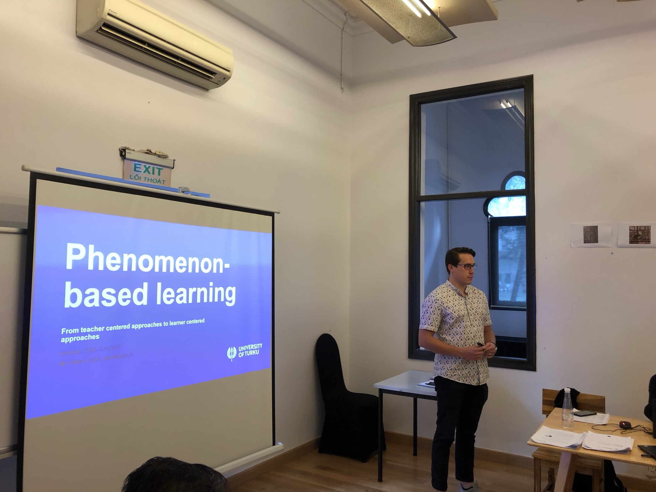 Aleksi Lahti from Finland's Turku University sharing some of the nuts and bolts of phenomenon-based learning.