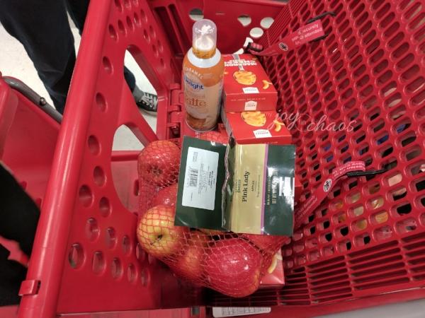 shopping trip at target total $6.63 after rebates