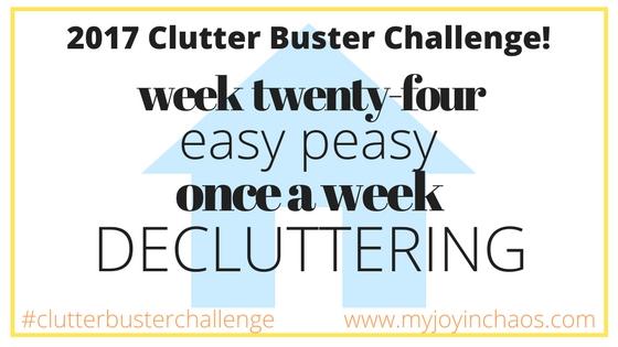 clutter buster week 24