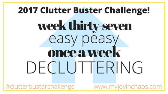 clutter buster challenge week 37