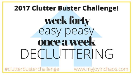 clutter buster week 40