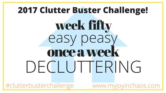 clutter buster week 50