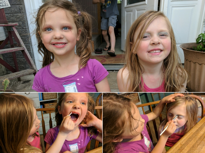 little girl make up fun