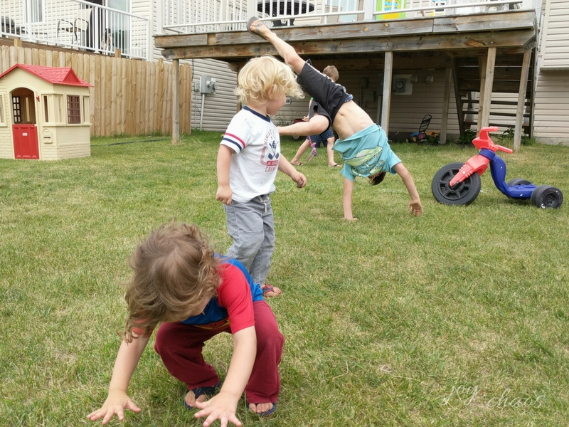 backyard gymnastics