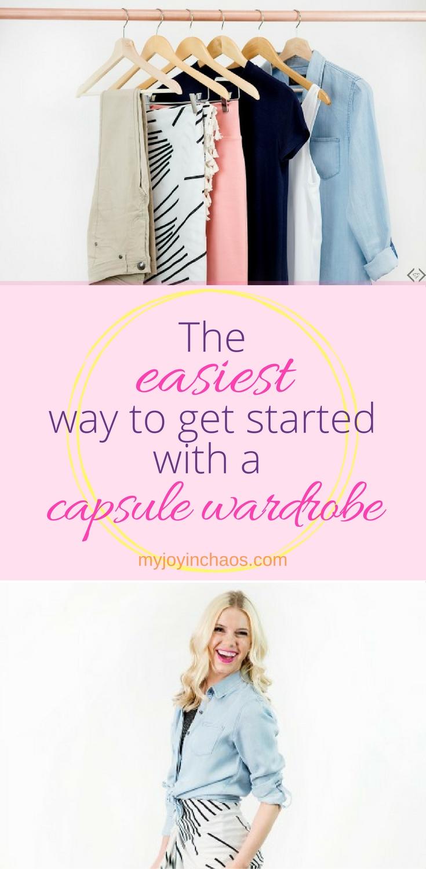 start capsule wardrobe