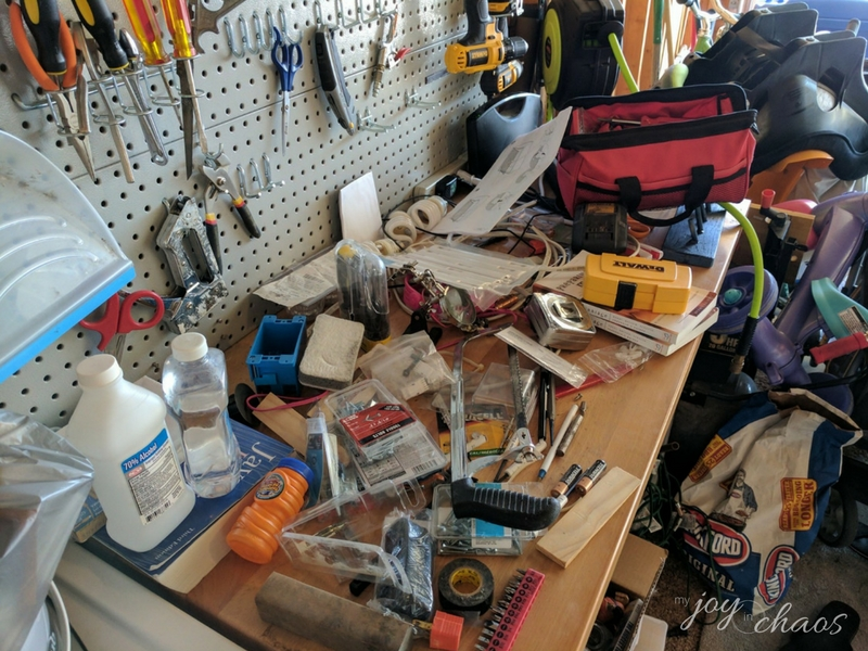 tool bench clutter
