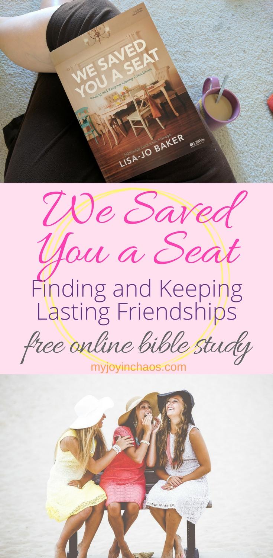 we saved you a seat bible study