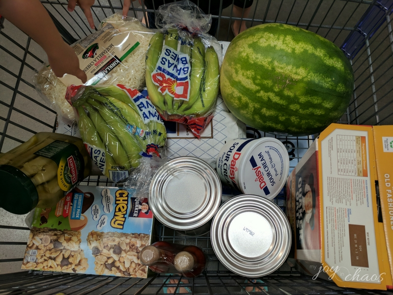 costco grocery trip