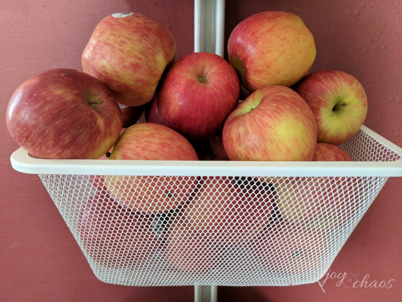 I forgot to snap a photo in the store so here's all the apples in our apple bin :D