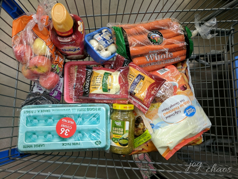 Walmart grocery trip for family of seven