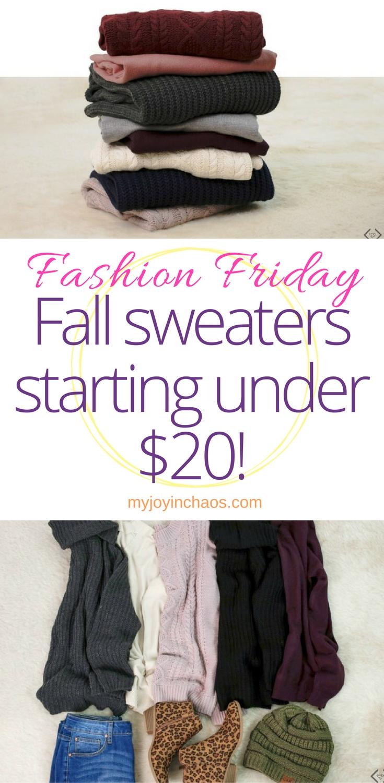 fashion friday fall sweater sale