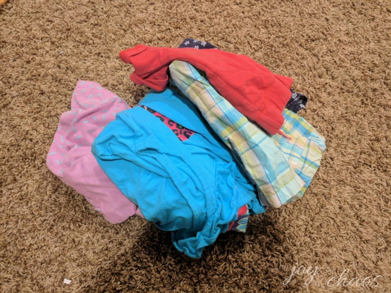 seasonal clothing pile