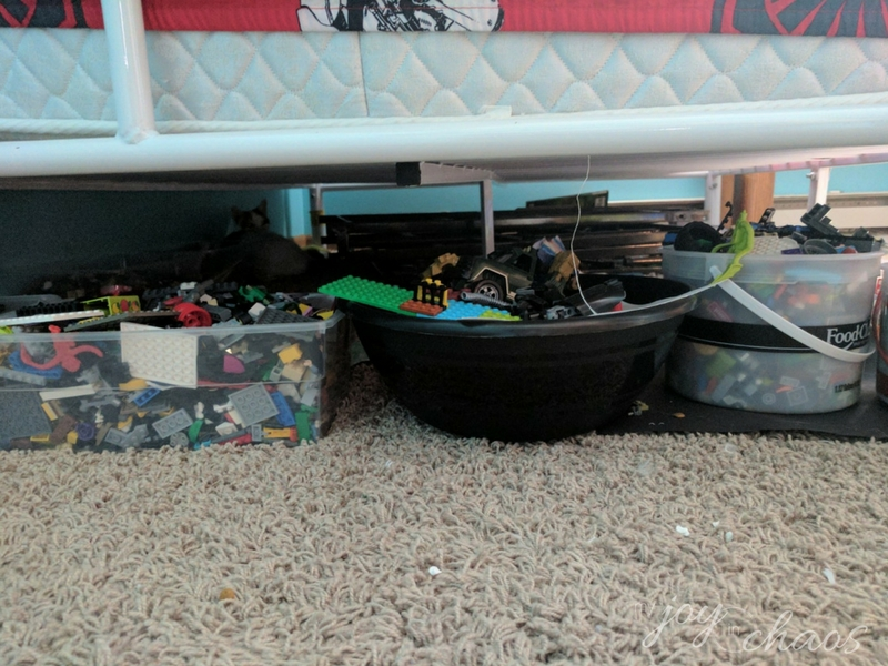 under the bed clutter lego storage