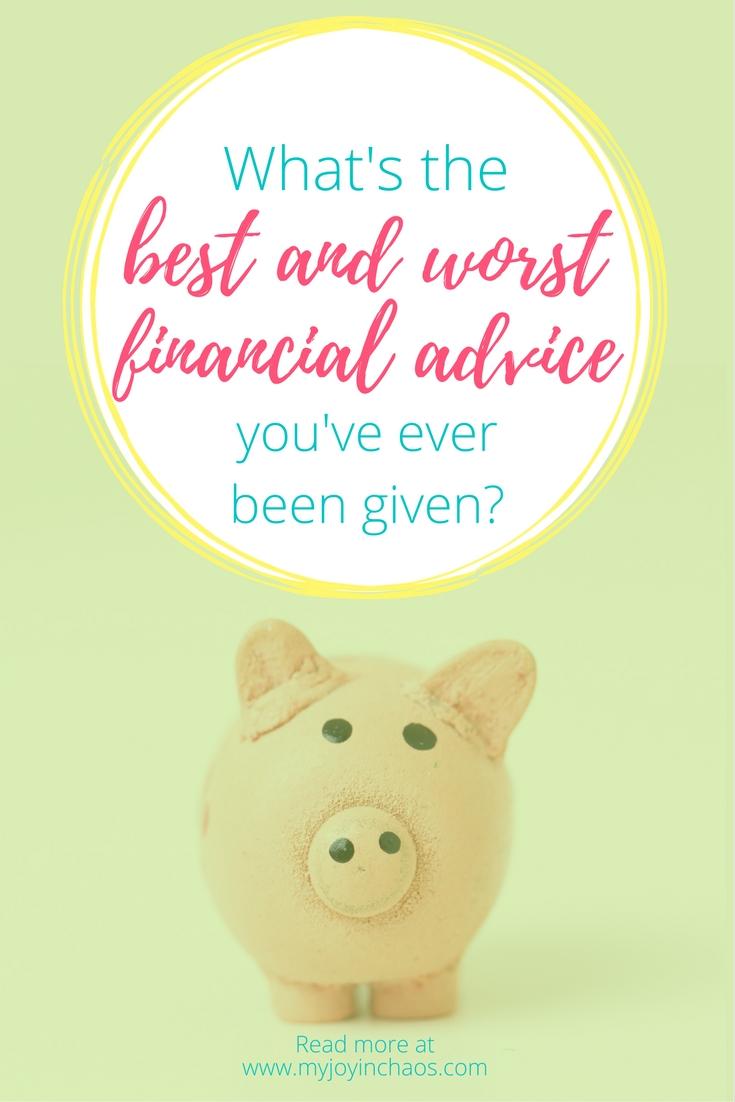 best worst financial advice