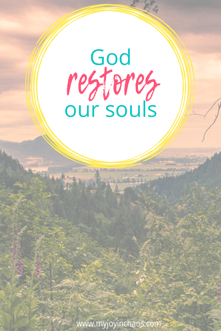 As I was reading her words about the verse I was filled with wonder and gratitude about how much restoration God actually does. The initial restoration of our souls is huge - especially for those of us who come to Christ later on because we understand the gravity of our past choices.