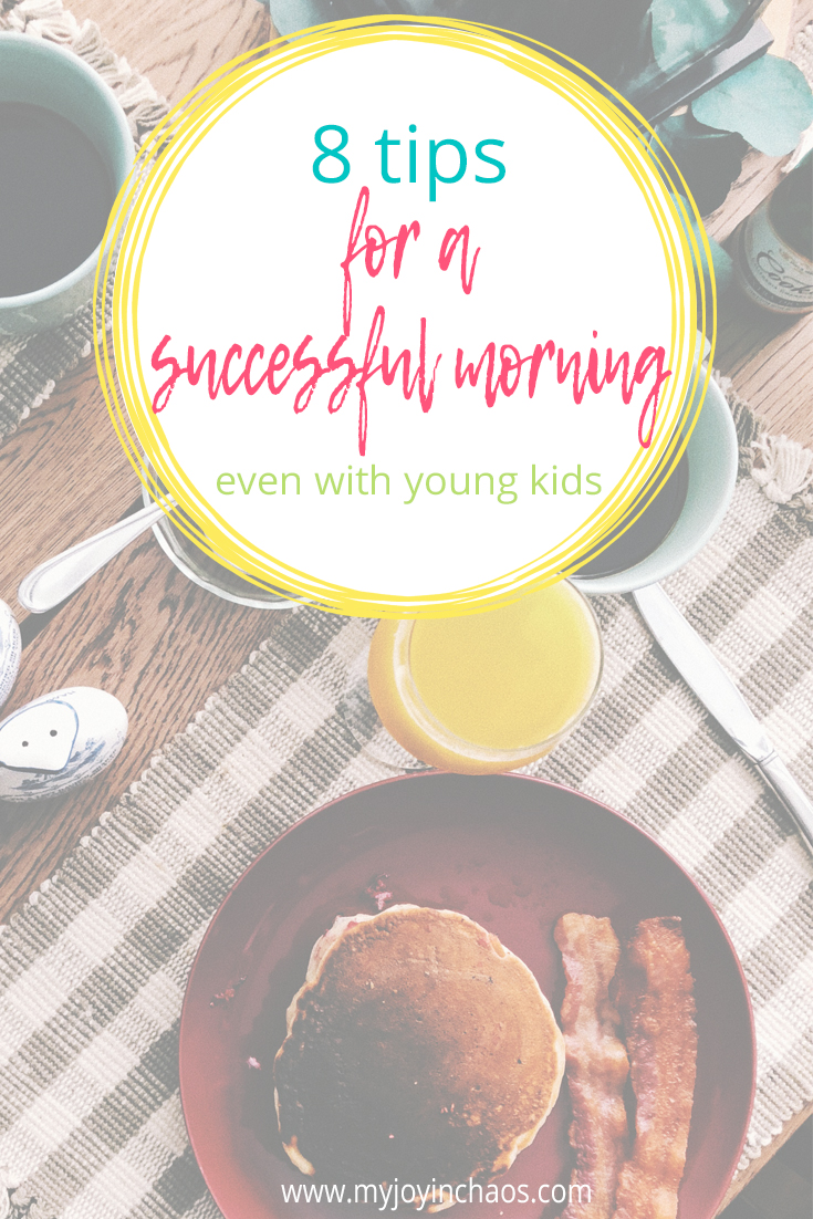 I really believe the key to a successful morning begins the night before. In fact, ours starts as early as the afternoon before!
