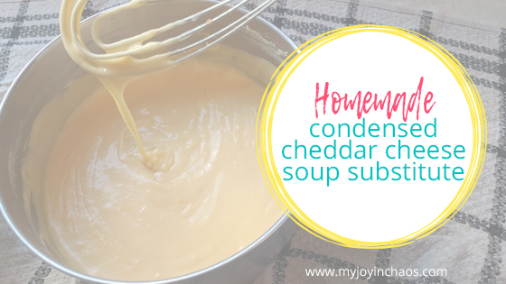 Don't buy canned condensed soup anymore! Use this homemade cheddar cheese soup instead.