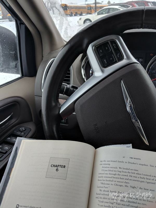 I carry books with me wherever I go to make sure I can always fit in a few minutes of reading when I have a chance.