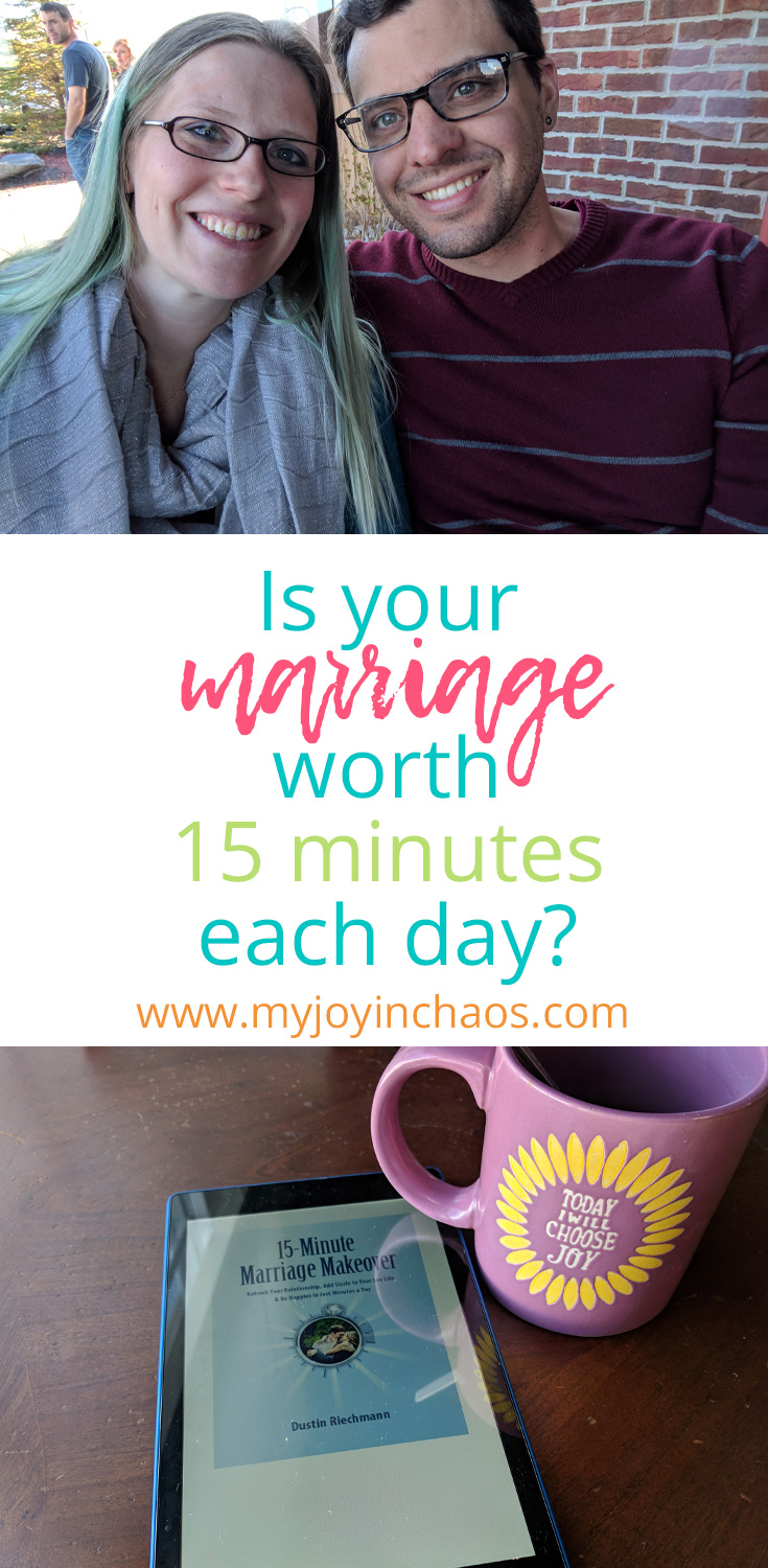 Is your marriage worth an investment of 15 minutes per day? #marriage #marriagehelp #marriageresources #Christianmarriage #marriagebooks
