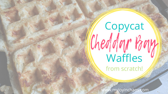 Red Lobster Cheddar Bay Biscuit Waffles copycat recipe