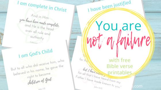 you are not a failure with free printable Bible verses